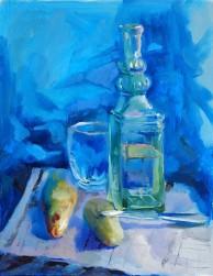 Blue Still Life12x16 inch